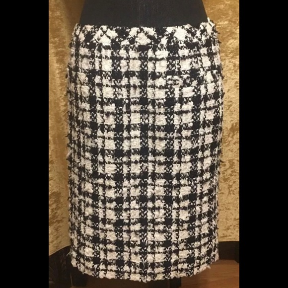ef3a902c6 CHANEL Dresses & Skirts - Authentic Black and White Tweed with Sequins skirt